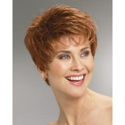 Power Wig Color R6/30H CHOCOLATE COPPER - Raquel Welch Wigs Petite Average Short Boy Cut Spiky Smooth Synthetic Women's Memory Open Weft Breathable