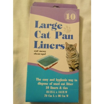 Large Cat Pan Liners, 10 Liners
