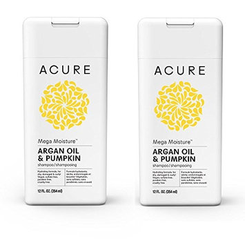 Acure Organics Moroccan Argan Oil and Argan Stem Cell Natural Shampoo (Pack of 2)