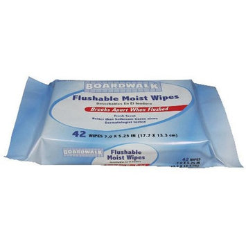 BWK357WR - Boardwalk Personal Moist Towelettes Tub, 42 Sheets, 12 Tubs/carton