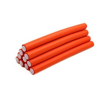 uxcell 10 Pcs Orange 2cm Dia Home Beauty DIY Curler Makers Soft Foam Bendy Twist Curls Tool Hair Rollers