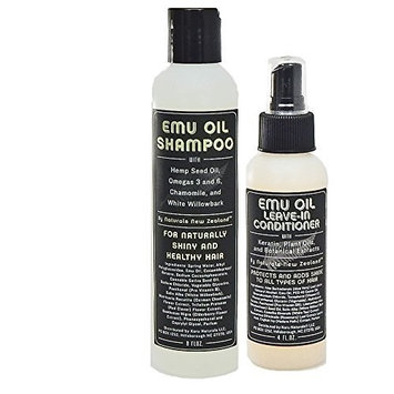 Emu Oil Shampoo and Leave-in Conditioner Set - New Conditioner Formula by Naturals New Zealand