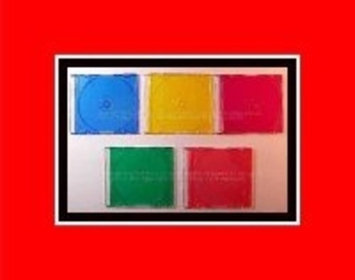 Supergooddeals.com 5-Pack Cd / Dvd Slim Jewel Case - 5-Colors In Every Pack