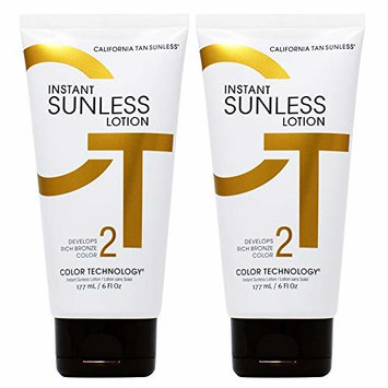 California Tan Intant Sunless Lotion 6oz (Pack of 2)