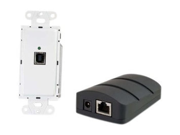 C2G Cables To Go Trulink USB 2 0 Superbooster Wall Plate Transmitter To Dongle Receiver Kit White Black 53878 HEC0MJB3N-1610