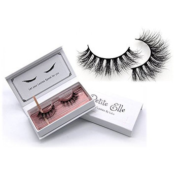 PetiteElle 3D Mink Eyelashes- Dramatic Makeup look High- Handmade Reusable False Long Natural lashes- Premium mink 100% Siberian Fur Fake Eyelashes 1 Pair – Prime