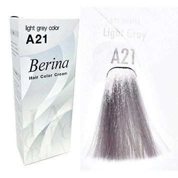 BERINA A21 PERMANENT HAIR DYE COLOR CREAM LIGHT GREY PUNK STYLE