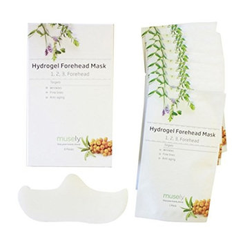 Musely Hydrogel Forehead Mask 1, 2, 3 Forehead, Box of 8