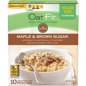 Better Oats Instant Oatmeal, Maple & Brown Sugar, 9.8 Oz, 10 Ct (Pack Of 6)