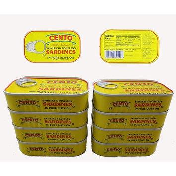 Skinless & Boneless Sardines in Olive Oil, Cento (Pack of 8)