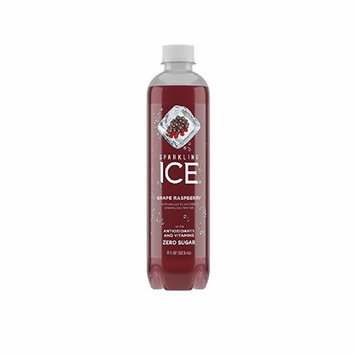 ICE Naturally Flavored Grape Raspberry Sparkling Water Zero Sugar 17Oz. (Pack of 12)