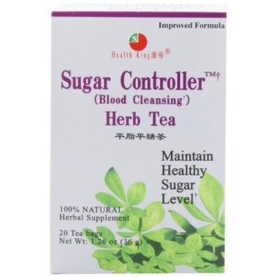 Health King Sugar Controller Herb Tea, Teabags, 20-Count Box (Pack of 4) by Health King