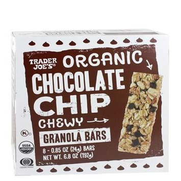 Trader Joe's Organic Chocolate Chip Chewy Granola Bars 6.8 oz. (Pack of 2 bxes)