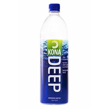 Kona Deep Pure Deep Ocean Electrolyte Mineral Water (1L), 12 Count