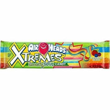 Airheads Xtremes Sweetly Sour Candy Belts, Rainbow Berry, 3 Ounce (Bulk Pack of 12)