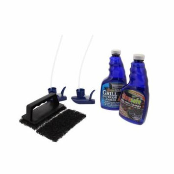 Citrusafe Complete Grill Care Kit - BBQ Grill Cleaner (16oz), Scrubber Handle & Pads, Exterior Grill Cleaner (16oz)