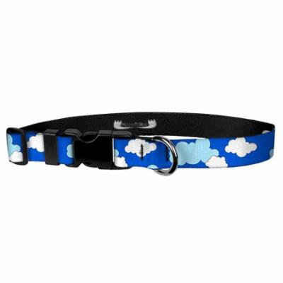 Deluxe Adjustable Dog Collar: Small, Clouds, 3/4 inch Sublimated Polyester by Moose Pet Wear