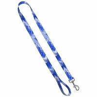 Deluxe Dog Leash: Blue Smoke, 1 inch by 6 feet Sublimated Polyester by Moose Pet Wear