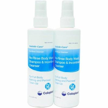 No-Rinse Shampoo and Body Wash Bedside-Care 8 oz. Bottle Mild Scent 8 Pack