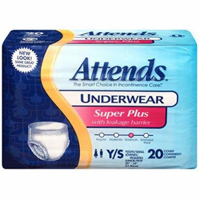 Attends Super Plus Absorbency Pull-On Protective Underwear Small, 22 -34 , Case of 80 - 2 Pack