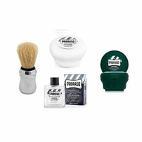 Proraso Shave Soap, Sensitive 150 ml + Proraso Shave soap menthol and eucalyptus 4oz + Proraso Professonal Shave Brush + Proraso After Shave Balm Protective, 3.4 Fluid Ounce + LA Cross Manicure 74858