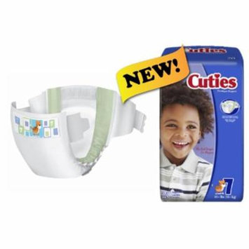 Cuties Baby Diaper Tab Closure Size 7 Disposable Heavy Absorbency Bag of 20 8 Pack