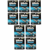 Gillette Sensor Refill Blade Cartridges, 10 Ct. (Pack of 10) + Curad Dazzle Bandages 25 Ct.