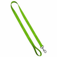 Classic Dog Leash: Hot Green, 3/4 inch by 6 feet Nylon by Moose Pet Wear