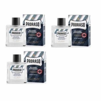 Proraso Alcohol Free Aftershave Balm - Aloe and Vitamin E - 3 Pack + LA Cross Tweezers 71817