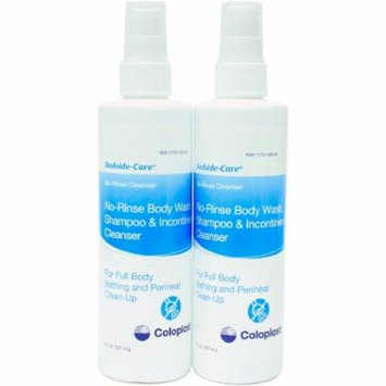 No-Rinse Shampoo and Body Wash Bedside-Care 8 oz. Bottle Mild Scent 10 Pack