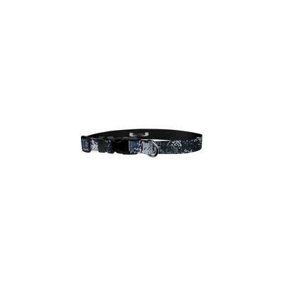 Deluxe Adjustable Dog Collar: Medium, Digi Camo Blue, 1 inch Sublimated Polyester by Moose Pet Wear