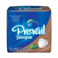 Prevail Breezers Adult Briefs, X-Large - 15 Ea, 4 Pack