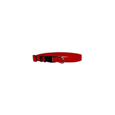 Classic Adjustable Dog Collar: Large, Light Red, 1 inch Nylon by Moose Pet Wear