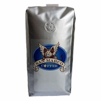 San Marco Coffee Flavored Whole Bean Coffee, Toasted Almond Cream , 1 Pound