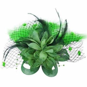 Fascigirl Feather Hair Clip Fascinator Wedding Headwear Bridal Headpiece for Women