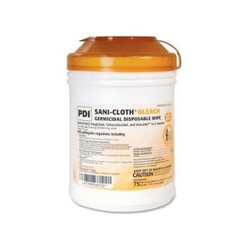 Surface Disinfectant Cleaner Sani-Cloth Bleach Chlorine Scent Wipe 75 Count Manual Pull Canister 10 Pack