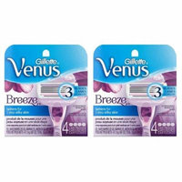 Gillette Venus Breeze Refill Razor Blade Cartridges, 8 Count (2 Packs of 4 Ct) + LA Cross Manicure 74858