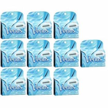 Gillette Venus Women's Refill Razor Blade Cartridges, 4 ct (Pack of 10) + LA Cross Manicure 74858