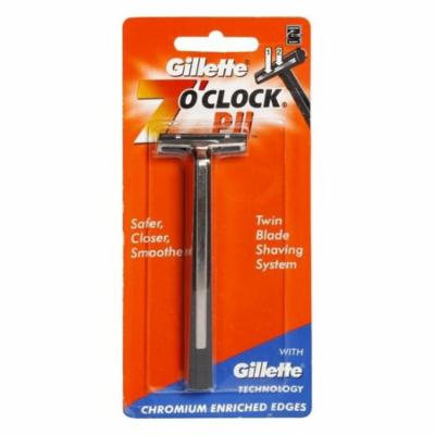 Gillette 7 O'Clock PII Trac II Razor + LA Cross Tweezers 71817
