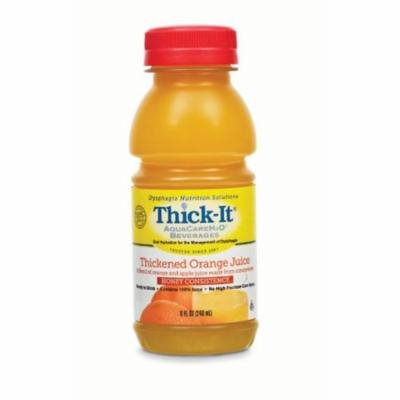 Thick-it Aquacare h2o Food Thickener Beverage 8 Oz. Orange Juice Ready To Use 4 Cases of 24