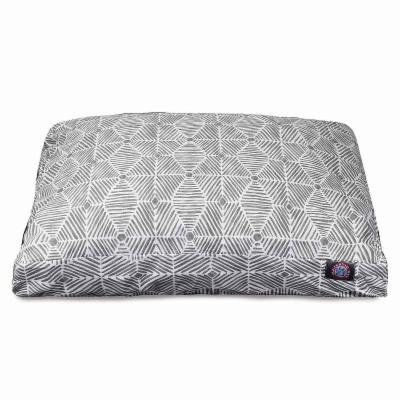 Majestic Pet Charlie Rectangle Dog Bed - Large, Gray (One Size)- Pet Accessories - Pet Beds