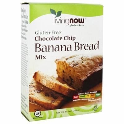 NOW Foods - Living Now Gluten-Free Chocolate Chip Banana Bread Mix - 10.2 oz(pack of 6)