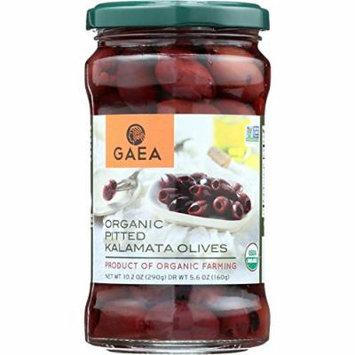 GAEA Organic Pitted Kalamata Olives - Original - 5.6 oz - case of 8 - Non GMO - From Greece