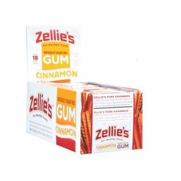 Zellie's Cinnamon Xylitol Gum Blister Pack 12 pk Case
