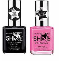 Pure Ice Shine With Gel Tech Nail Polish - 2 Pack - Sleek Peek (Pink) & Lock It Down Top Coat