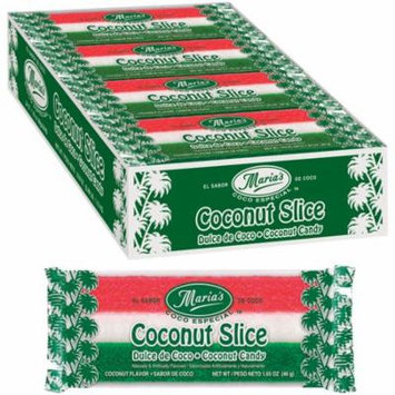 Maria's Coco Especial Coconut Slice Candy Bars (24 traditional Mexican-style moist coconut bars)