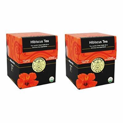 Organic Hibiscus Flower Tea - Kosher, Caffeine Free, GMO-Free - 18 Bleach Free Tea Bags(Pack of 2)