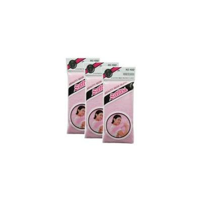 Salux Nylon Japanese Beauty Skin Bath Wash Cloth/Towel (3) Pink