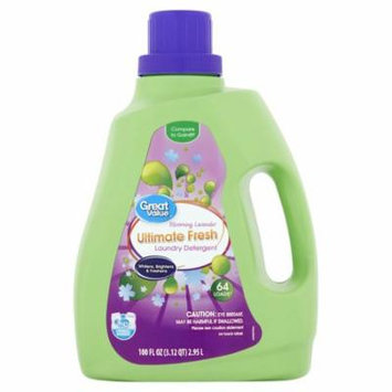 Great Value Ultimate Fresh Liquid Laundry Detergent, Blooming Lavender Scent, 64 Loads