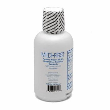 Medi-First Sterile Eye Wash Solution, 16 oz Bottle 6 Count - MS55821